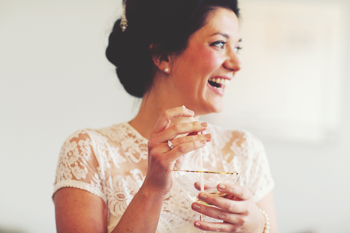 Creative Reportage London RIBA Wedding Photography Bridal Preparations Champagne Vintage