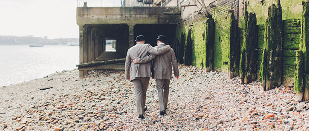 gay engagement shoot in wapping, london