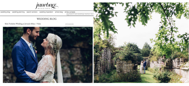 Boho wedding featured on Junebug