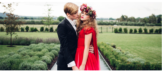 Red White Ombre Dress featured on Looks Like Film