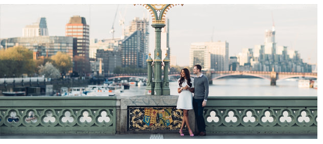 Sunrise London engagement featured on Looks Like Film