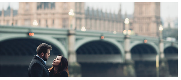 Frame from London Sunrise Engagement session featured on Looks Like Film