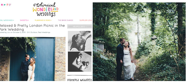 relaxed Clissold Park picnic wedding featured on whimsical wonderland weddings