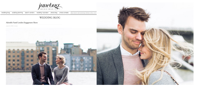 Rachael & Ben's engagement session on Junebug weddings blog