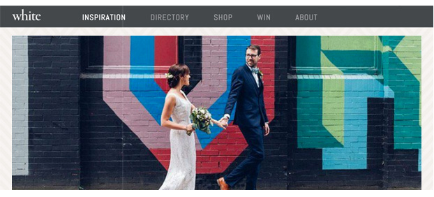 london pub wedding on white magazine