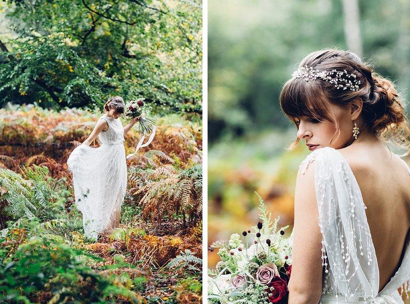 Natural woodland wedding photography