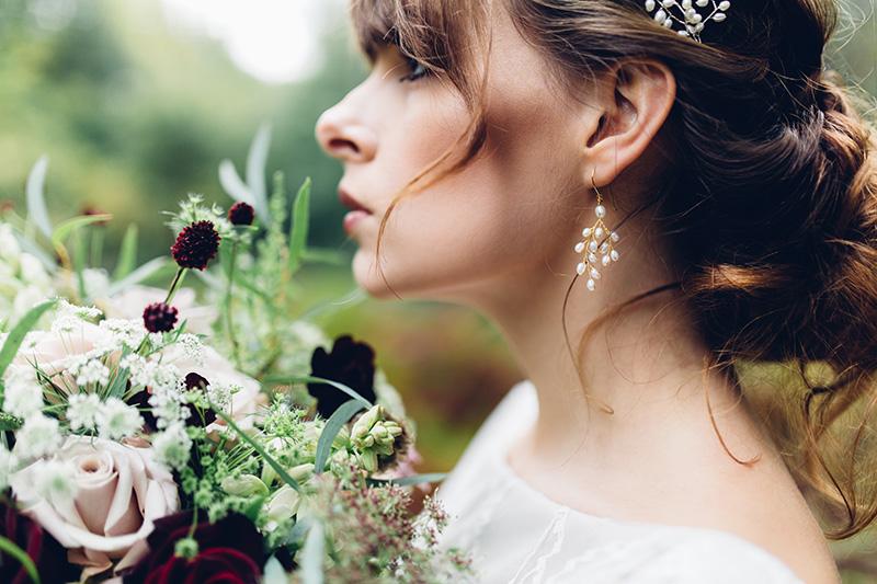 bride hair updo