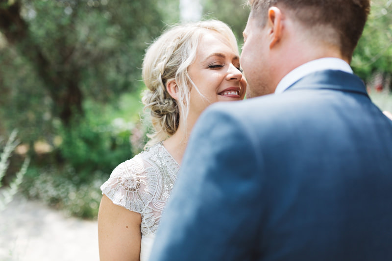 first look south of france wedding photographer