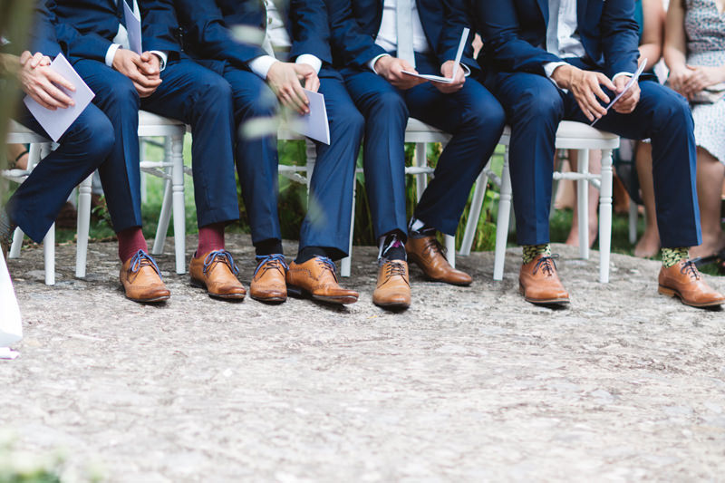 groomsmen blue suits brown brogues