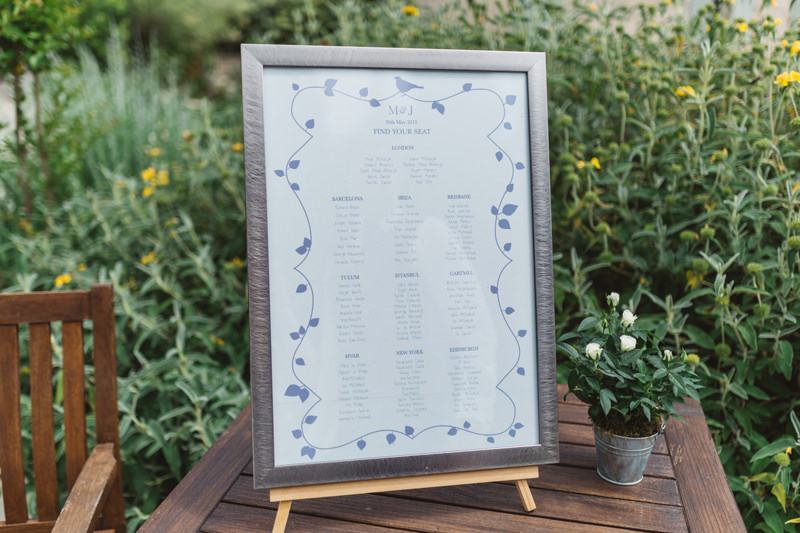 pretty lavender inspired table plan france wedding