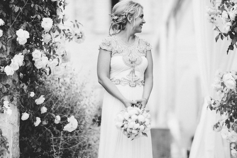 Beautiful bride in provence France