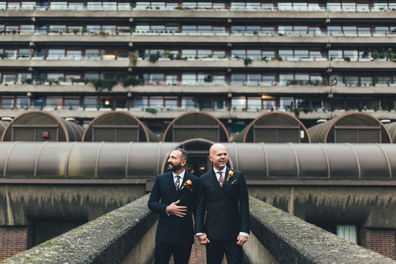 Gay Barbican wedding photographer