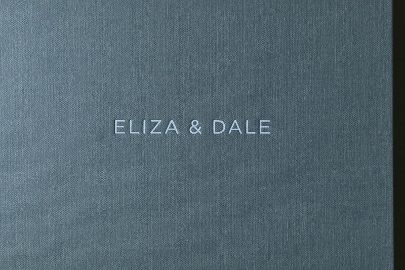 foil stamped wedding album