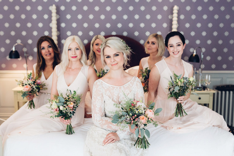 pretty pink bridesmaids