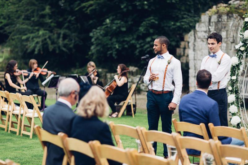 outdoor wedding ceremony yorkshire