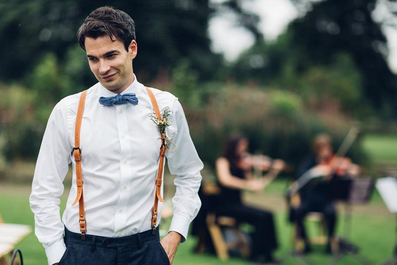 groomsmen braces bowtie