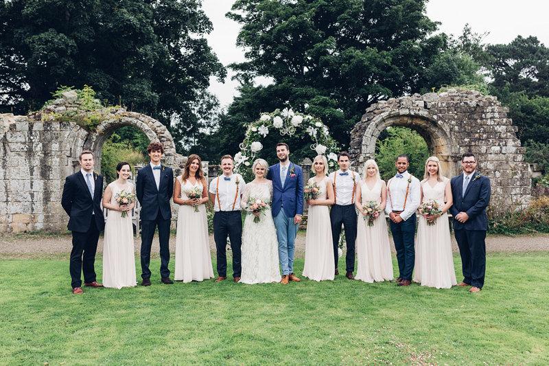 boho bridal party yorkshire