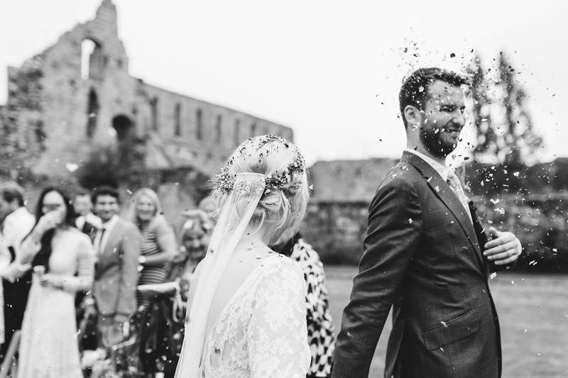 awesome confetti wedding photo