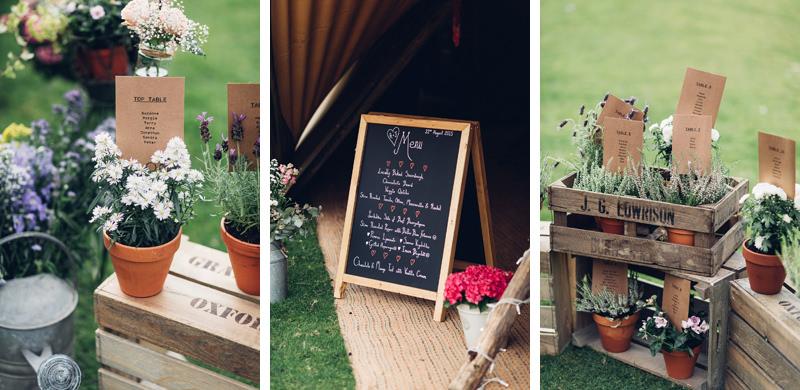 boho tipi wedding details
