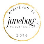 published on badge white junebug weddings