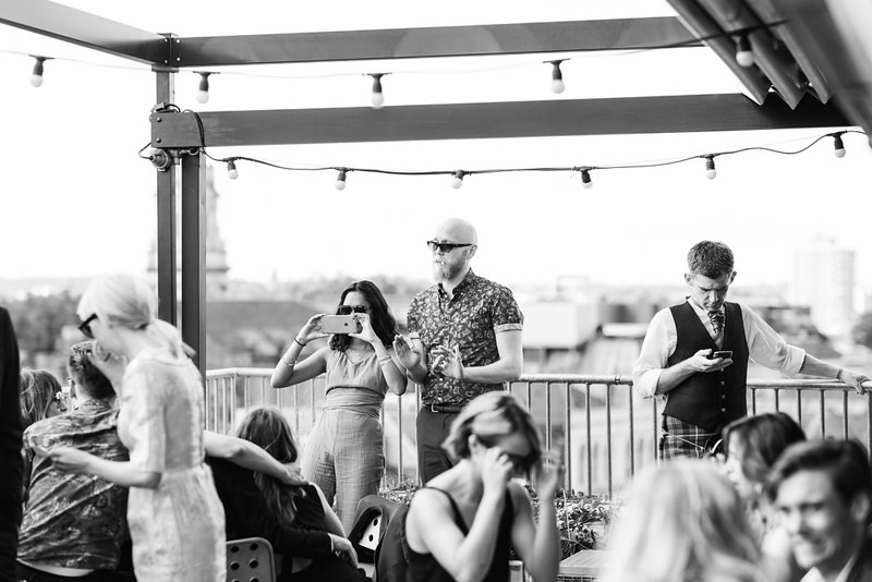 london rooftop wedding photographer