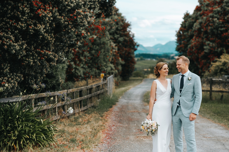 natural portrait of bride and goom in Nelson, New Zealand by contemporary destination wedding photographer Miss Gen