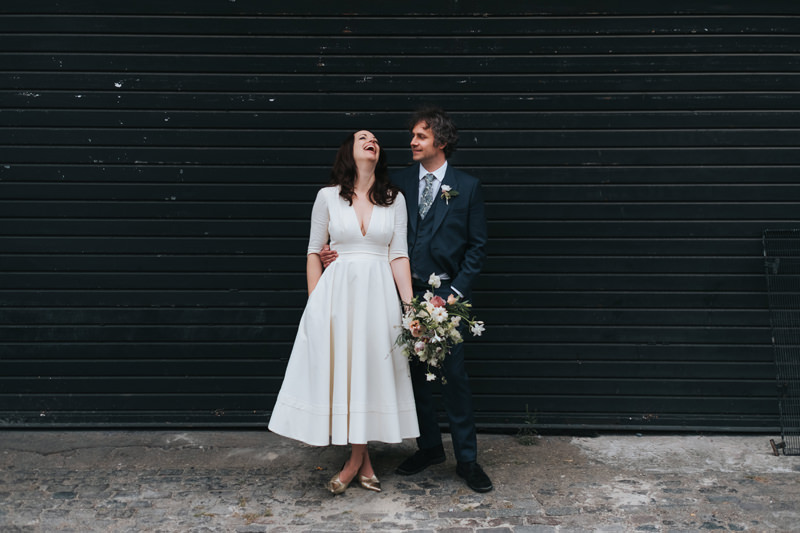 bride and groom in east london by wedding photographer miss gen