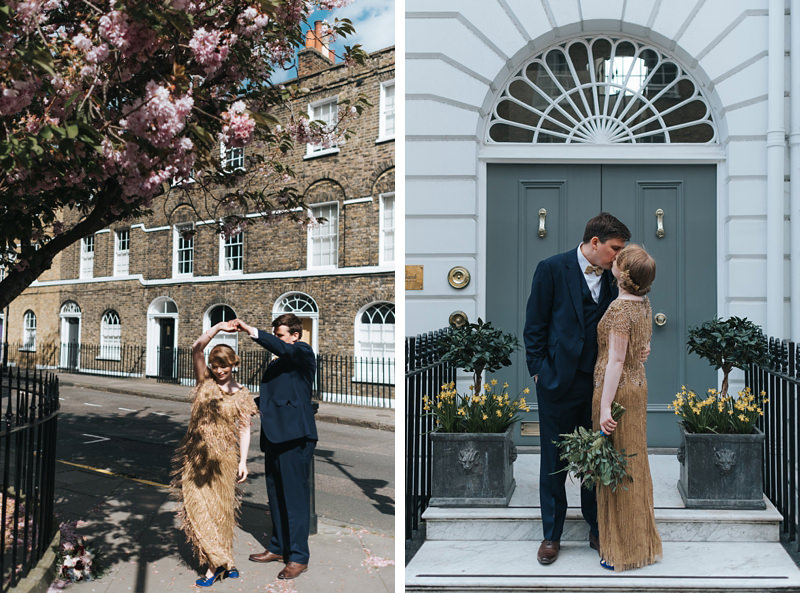 beautiful bride and groom portraits in london by natural documentary wedding photographer Miss Gen