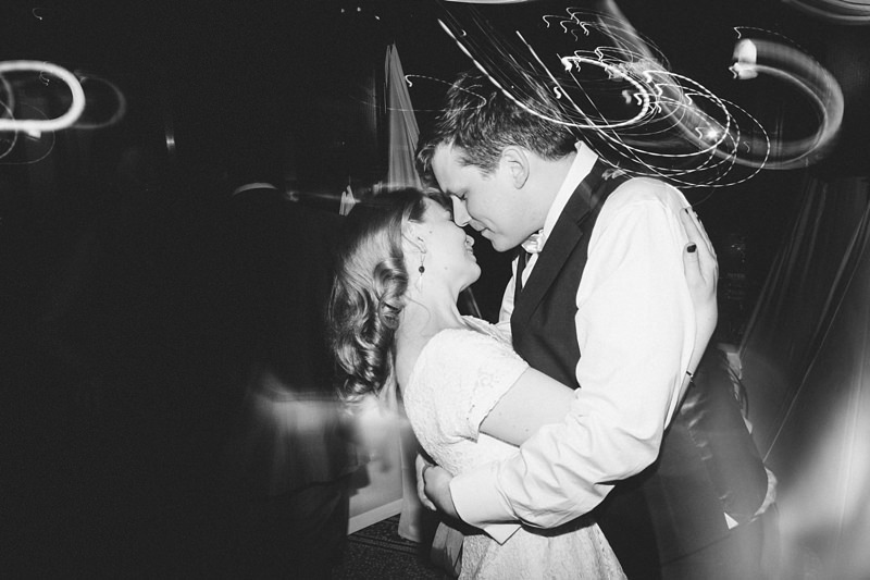 bride and groom first dance, modern photo with light trails by Miss Gen
