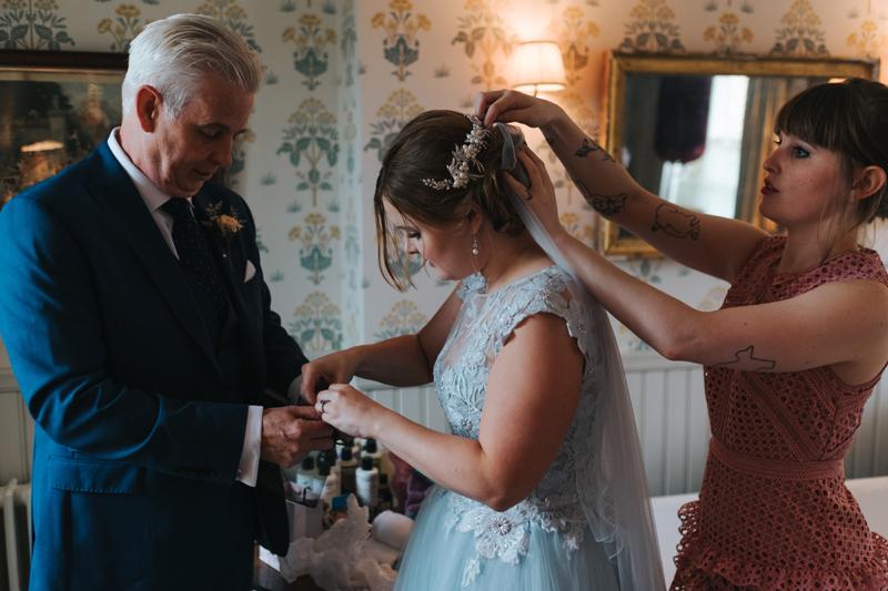 bridal preparations at Soho Farmhouse by modern alternative wedding photographer miss gen
