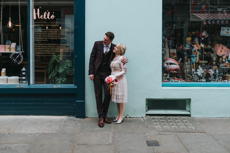 Spring Elopement in London by alternative modern wedding photographer Miss Gen