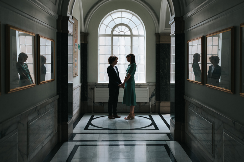 lesbian wedding at islington town hall in london by contemporary wedding photographer miss gen