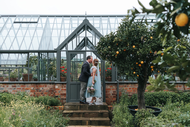 bride and groom at Soho Farmhouse by destination wedding photographer Miss Gen