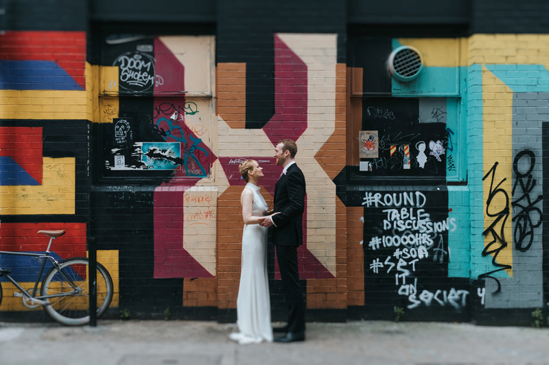 couple in shoreditch, alternative modern wedding photography by miss gen
