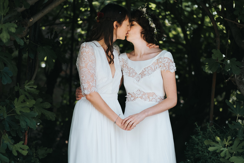 real emotional wedding portrait of two brides by miss gen.