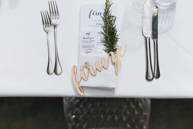 simple elegant wedding details
