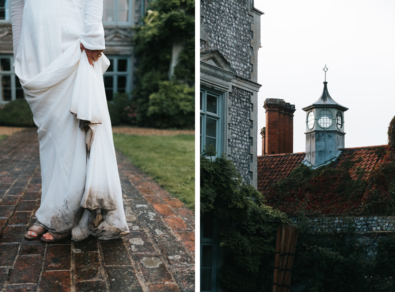 relaxed manor house wedding