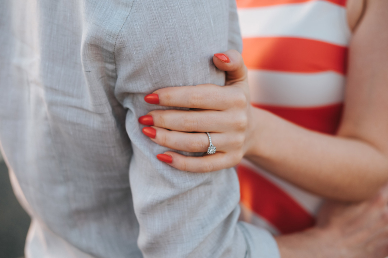 modern engagement photography