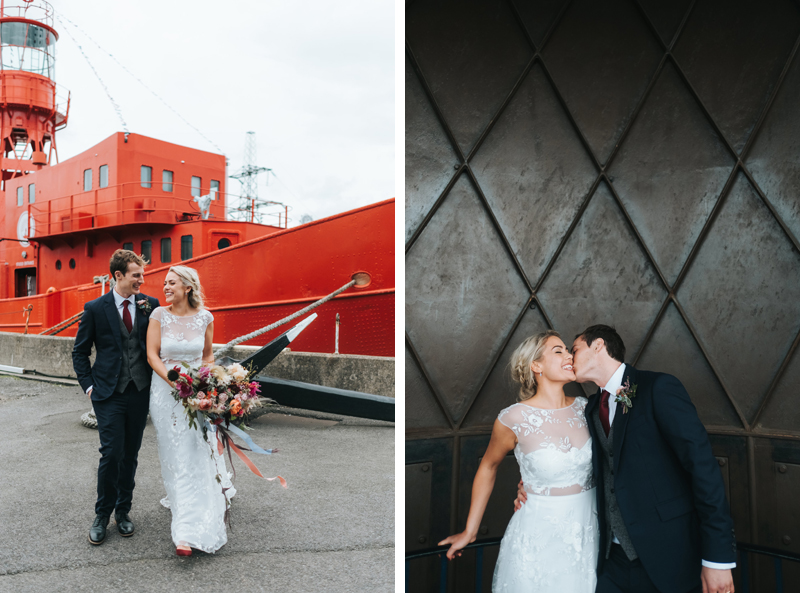trinity buoy wharf wedding photographer