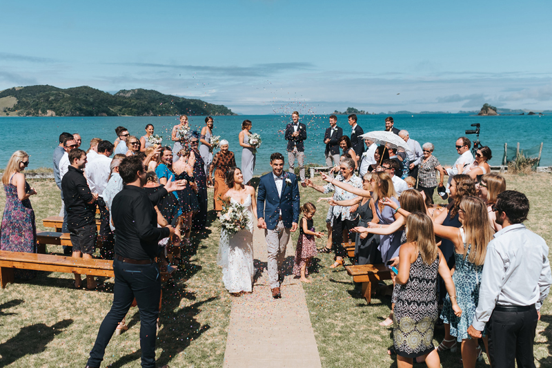 relaxed beach wedding