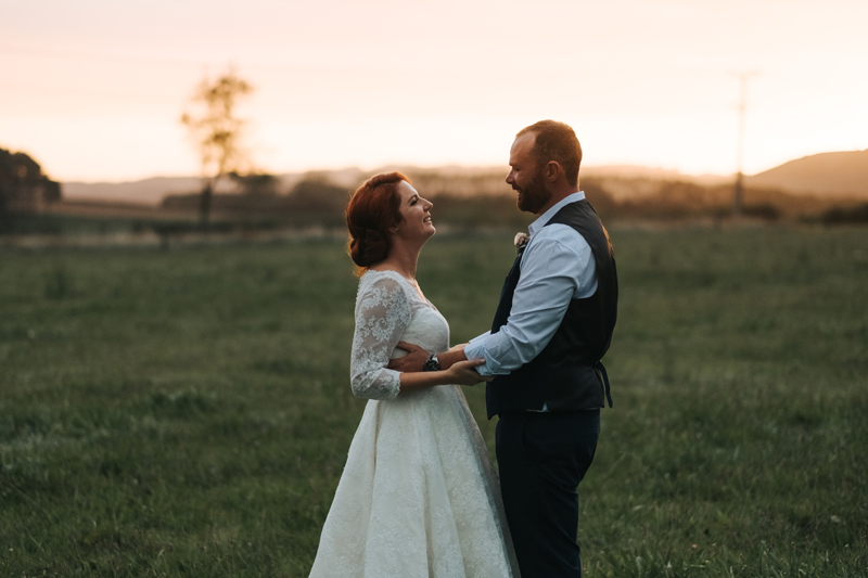 romantic couples wedding portrait at sunset in new zealand by europe destination wedding photographer, Miss Gen