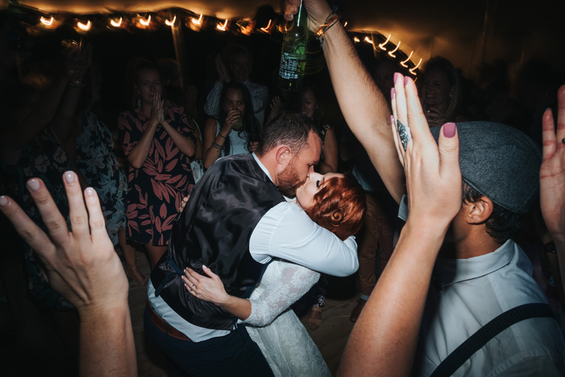 couple on dance floor by new zealand destination wedding photographer miss gen