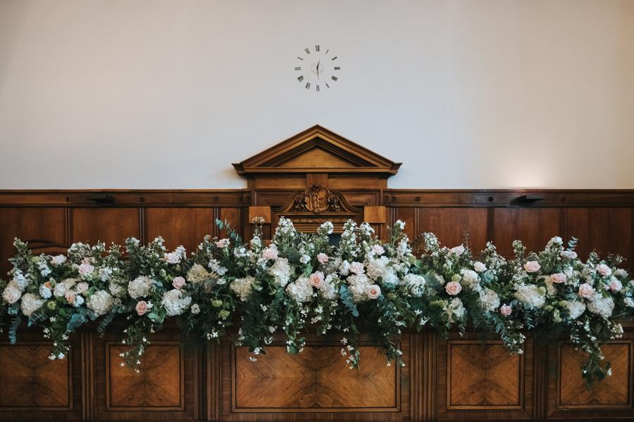 elegant town hall hotel wedding