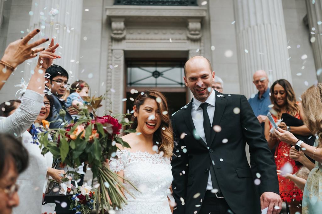 intimate marylebone town hall wedding