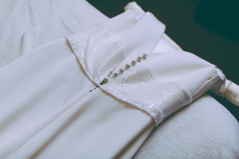 Suzanne Neville wedding dress