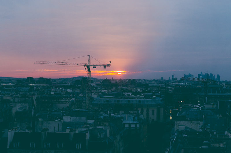 Sunset in Paris from the Pompidou centre