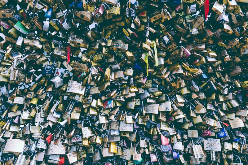 Lover's locks Paris