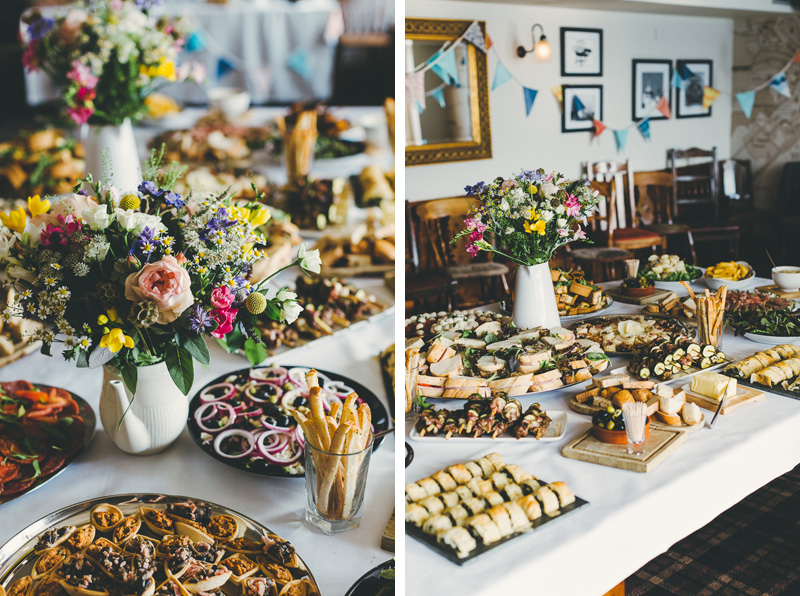 Wedding breakfast and flowers