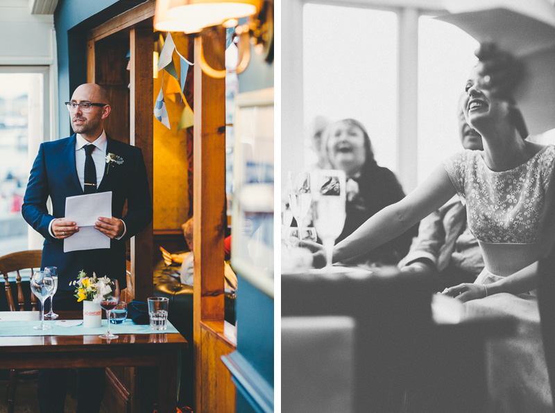 Wedding speeches at the Still and West Pub in portsmouth for a laid back pub wedding.