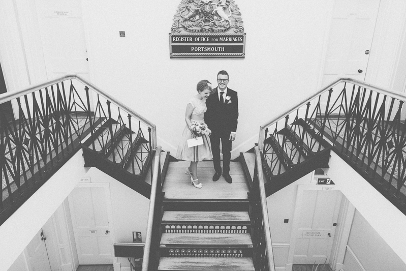 wedding ceremony at Portsmouth Registry Office